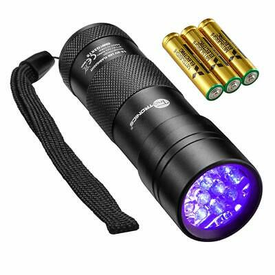 TaoTronics Black Light 12 LEDs 395nm UV Blacklight Flashlights Fluids Detector