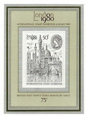 GB 1980 - LONDON 1980 STAMPEX 50p Mini Sheet MS1119 - In pack - Unmounted Mint