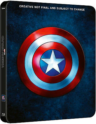 Marvel Captain America Trilogy Blu-ray 1-3 Movie Collection uk Steelbook New!!!!