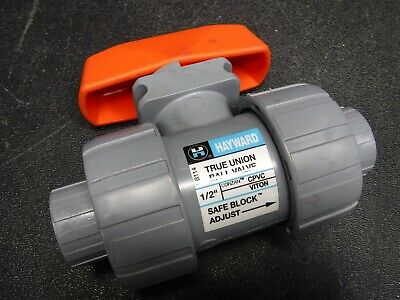 "New Hayward LB114 1/2"" True Union Threaded CPVC Ball Valve with Viton Seals U10"
