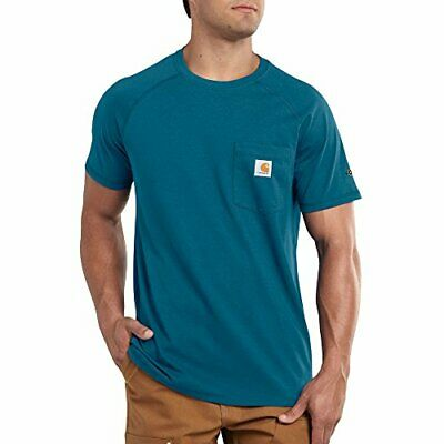 f20f5d25 Carhartt Men's Force Cotton Short Sleeve T-Shirt Relaxed Fit - Bay Harbor -  2XL