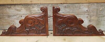 Antique Architectural Oak Ornate Wood Carved 'PEDIMENT' Salvage 19th century.