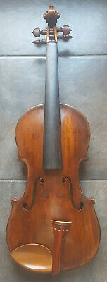 Antique 1800s Vintage Joseph Guarneri Fecit Cremonae Anno 17 IHS Violin Germany