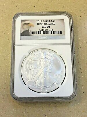 2012 Silver Eagle NGC MS 70 First Releases