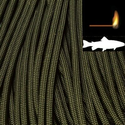 550 Fish & Fire Paracord Olive Drab 100 ft Made in USA 163-299