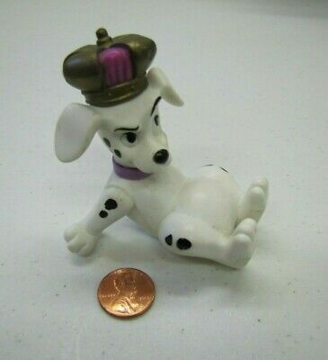 Disney 101 Dalmatians PUPPY DOG TOY Wearing Crown Movable Arms Head Cake Topper