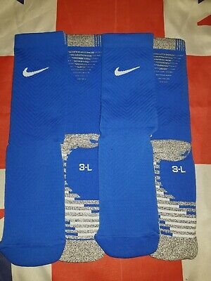 best service cfecc 44523 Nike Grip Strike Cushioned Crew Football Socks Size L UK 8-10   2 Pairs