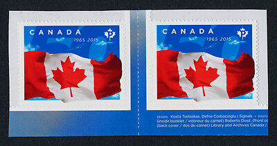 Canada 2807 gutter pair MNH 50th Anniversary of the Canadian Flag