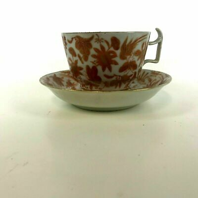 Rare Chinese 19th / 18th Century Iron Red Tea Cups and Saucers #14