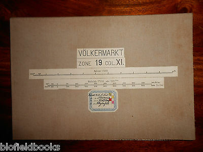 Vintage Military? Folding Map c1880 of Volkermarkt (Austria) Zone 19, Col XI
