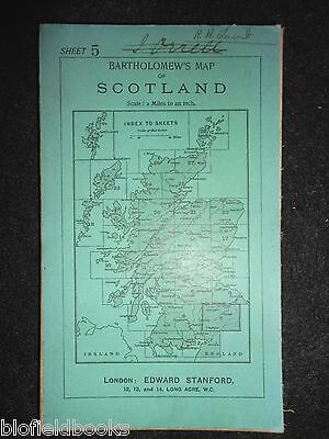 Vintage Bartholomew's Map to Scotland, c1933 - Selkirk, Hawick, Roxburgh Sheet 5