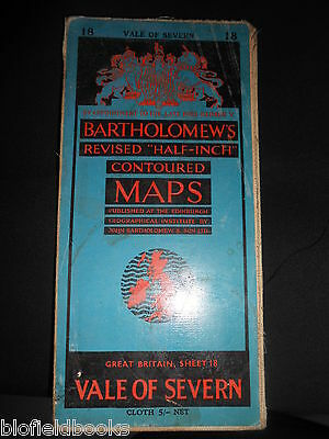 Vintage Bartholomew's Half Inch Map of The Vale of Severn - 1953 - Sheet 18