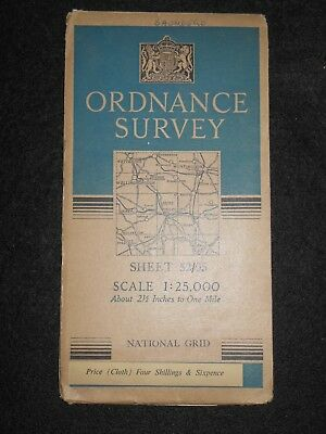 Vintage Ordnance Survey Map, Sheet 52/05- 1948 - Bedfordshire, Bedford, Hunts