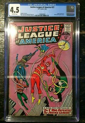 Justice League of America #27 CGC 4.5 Amazo Appearance 1964