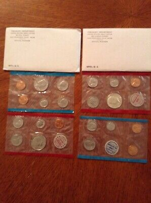 1970 & 1971 United States Mint Sets Original Packaging