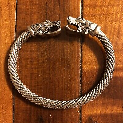 * Ancient European Viking Style Bracelet Modern Rendition Museum Type Dragon
