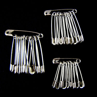 30-120Pcs Safety Pins Silver Metal Craft Sewing Findings Quilt Patchwork Wedding