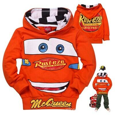 Cars Mcqueen 95 Boys cotton hoodie top thin jacket size 2-7 au stock