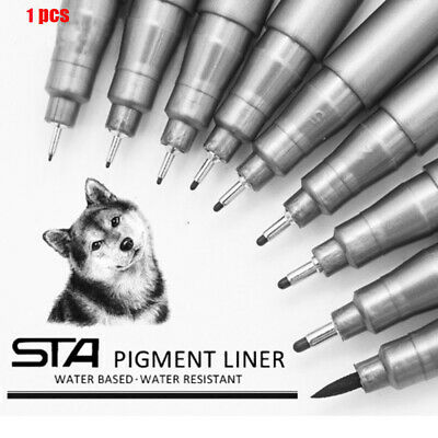 STA Waterproof Fade Proof PenTip Fine Liner Sketch Water Marker Pen