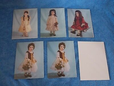 Set Of 5 New Vintage DAS Bru Bisque Doll Pictured Note Cards