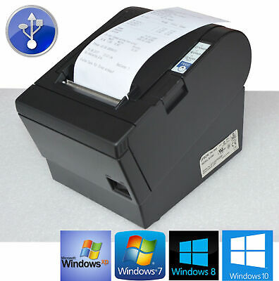 Black USB Receipt Printer Epson Tm-T88iii M129c with M148e Win XP 7 8 10 #88-14