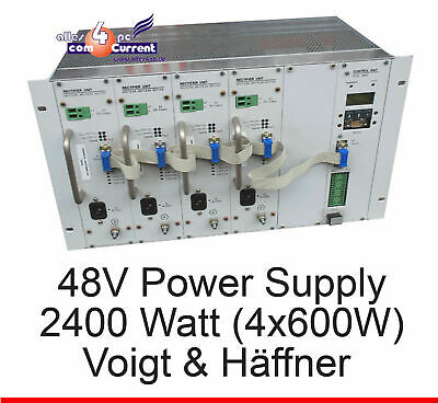 48 Volt 2400w 4x 600 Watt Power Supply Voigt and Haeffner Dslam Vuh Ups