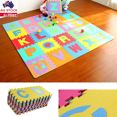 36pc Alphabet Numbers EVA Floor Play Mat Baby Room ABC Foam Puzzle Large Size AU