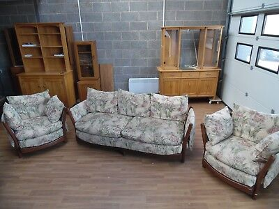 Ercol Impressionist 3 Seater Sofa & Two Arm Chairs Collection/Delivery