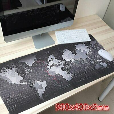 Large XXL Size Anti-Slip World Map Game Mouse Pad Speed Gaming Mat For Laptop PC