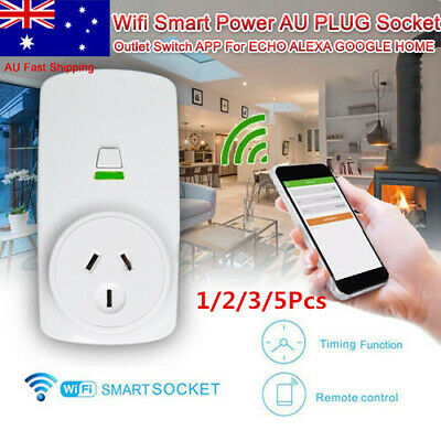 5X Wireless Wifi Smart Power AU Plug Socket Outlet Switch For ECHO ALEXA GOOGLE