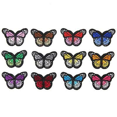 12Pcs/set Embroidery Butterfly Sew Iron On Patch Badge Fabric Applique DIY Decor