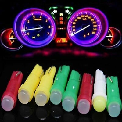 10Pcs T5 12V Wedge LED Light Car Dashboard DASH Gauge Lamp Bulb Casual