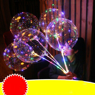 Party Decorations Decor LED Lights Clear Bubble Helium Balloons Wedding Birthday
