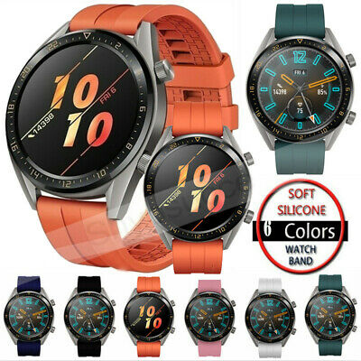 For Huawei Watch GT Active Elegant/2 Classic Pro Silicone Watch Band Strap 22mm