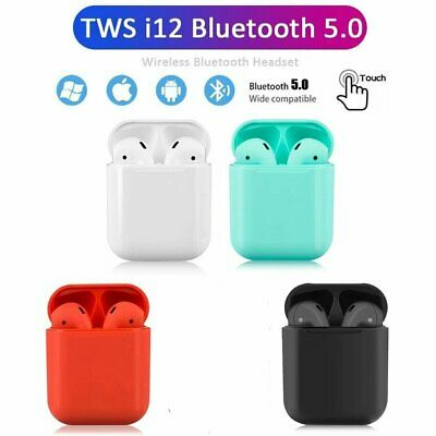 i12 i11 TWS Wireless Bluetooth 5.0 Earphones Earbuds Headphone For Apple iPhone