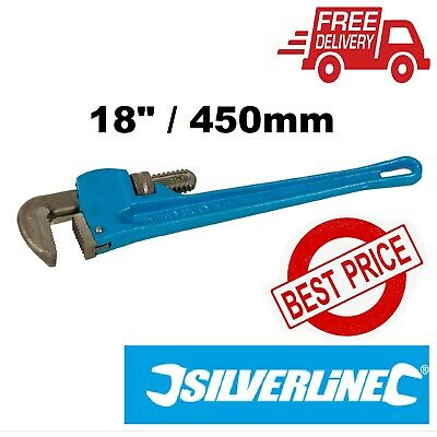 Expert Stillson Pipe Wrench Length 450Mm - Jaw 70Mm Silverline Wr61
