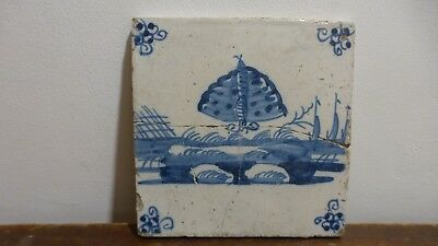 Antique dutch Delft tile .Butterfly. Carreau faience papillon ?. ..............9
