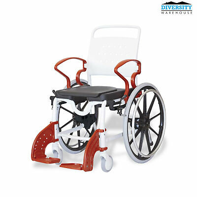 Rebotec Genf – Self Propelled Shower Commode Wheelchair Blue