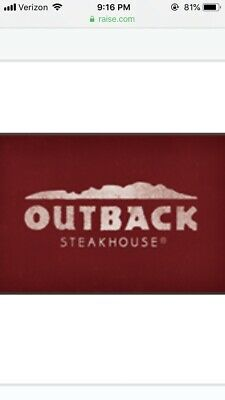 outback steakhouse gift card ($25)
