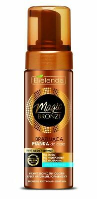 Bielenda Magic Bronze Bronzing Body Foam Mousse Holiday Golden Light Skin 150ml