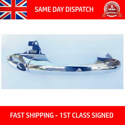 Fits Fiat 500 2007-2018 Driver Right Side Chrome Outer Door Handle O/S Rh Rhd Uk