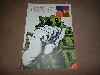 Bloomsbury Auctions Modern FIrst Editions Literature Economics History Law 2008