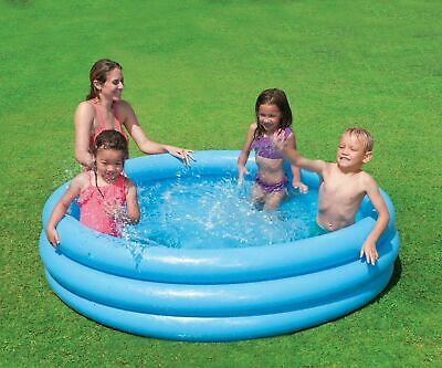 Bestway Play Inflatable 3 Ring Toy Kids Blue Fun Paddling Swimming Pool