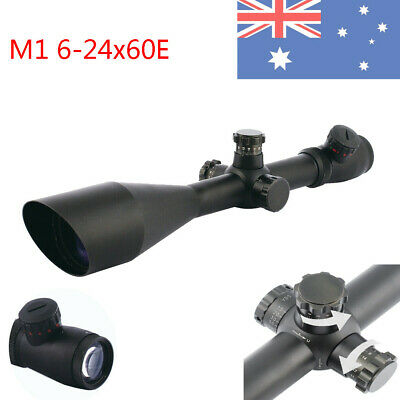 Optic 6-24x60E Green/Red Riflescope Long Range Scope For Airsodt Shooting