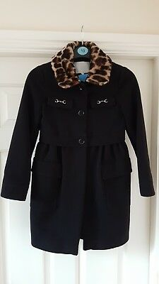 Gucci Girls Wool Coat In Black Age 8 Yrs Old