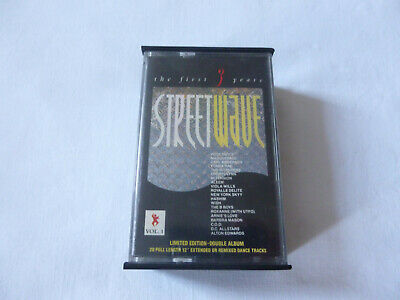 Streetwave ~ The First Three Years ~ 1986 Uk Dbl Electro Disco Cassette Tape