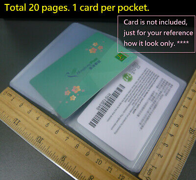 Portrait 20 Pocket Clear Credit Card holder refill insert Replacement/DIY Wallet