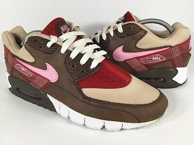 c80ba5ff17 Nike Air Max 90 DQM Current Bacon Brown White Pink Red Tan Mens Size 10 Rare