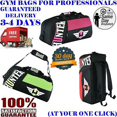 27c6d52ee766 HUNTER CONVERTIBLE BACKPACK / GYM BAG - Black Sports MMA Duffle ...