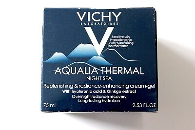 Vichy Aqualia Thermal Night Spa Replenishing & Radiance-Enhancing Cream-Gel 75ml